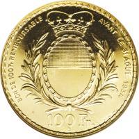 obverse of 100 Francs - Shooting Festival (1934) coin with X# S19 from Switzerland. Inscription: BON DE 100 Fr REMBOURSABLEAVANT LE 31 AOUT 1934 100 Fr B