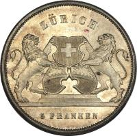 obverse of 5 Francs - Shooting Festival (1859) coin with X# S5 from Switzerland.