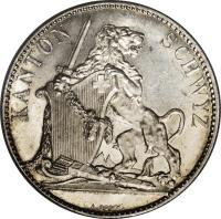 obverse of 5 Francs - Shooting Festival (1867) coin with X# S9 from Switzerland.
