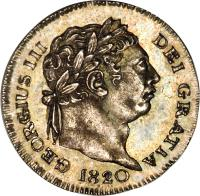obverse of 1 Penny - George III - Maundy Coinage (1817 - 1820) coin with KM# 668 from United Kingdom. Inscription: GEORGIUS III DEI GRATIA 1820