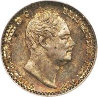 obverse of 1 Penny - William IV - Maundy Coinage (1831 - 1837) coin with KM# 708 from United Kingdom. Inscription: GULIELMUS IIII D:G: BRITANNIAR: REX F:D: