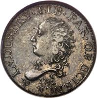 obverse of 5 Cents - Half Dime (1792) coin with KM# 5 from United States. Inscription: LIB · PAR · OF SCIENCE & INDUSTRY · 1792