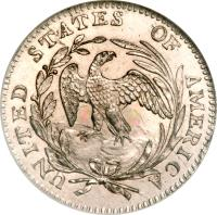 reverse of 1/2 Dime - Draped Bust Half Dime; Small eagle (1796 - 1797) coin with KM# 23 from United States.