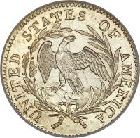 reverse of 1 Dime - Draped Bust Dime; Small eagle (1796 - 1797) coin with KM# 24 from United States.