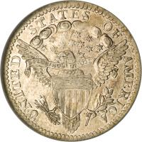 reverse of 1/2 Dime - Draped Bust Half Dime; Heraldic eagle (1800 - 1805) coin with KM# 34 from United States.