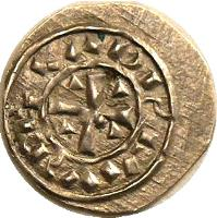reverse of 1 Denar - Coloman (1095 - 1116) coin with EH# 26 from Hungary.