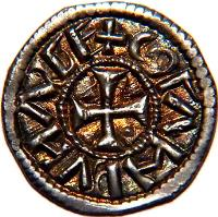 obverse of 1 Denar - Coloman (1095 - 1116) coin with EH# 28 from Hungary.