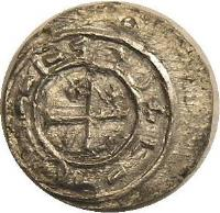 reverse of 1 Denar - Coloman (1095 - 1116) coin with EH# 32 from Hungary.