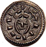 obverse of 1 Denar - Coloman (1095 - 1116) coin with EH# 33 from Hungary.