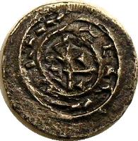 reverse of 1 Denar - Coloman (1095 - 1116) coin with EH# 30 from Hungary.
