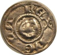 reverse of Bracteata - Béla III / Béla IV (1180 - 1240) coin with EH# 118 from Hungary.