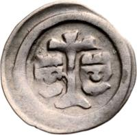 obverse of 1 Obulus - Béla IV (1235 - 1270) coin with EH# 256c from Hungary.