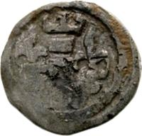 obverse of 1 Obulus - Béla IV (1235 - 1270) coin with EH# 229 from Hungary.