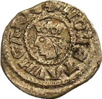 obverse of 1 Obulus - István V (1270 - 1272) coin with EH# 269 from Hungary.