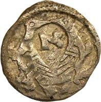 reverse of 1 Obulus - István V (1270 - 1272) coin with EH# 269 from Hungary.