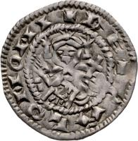 obverse of 1 Denar - Salamon (1063 - 1074) coin with EH# 10 from Hungary. Inscription: + RE + SALOMONI