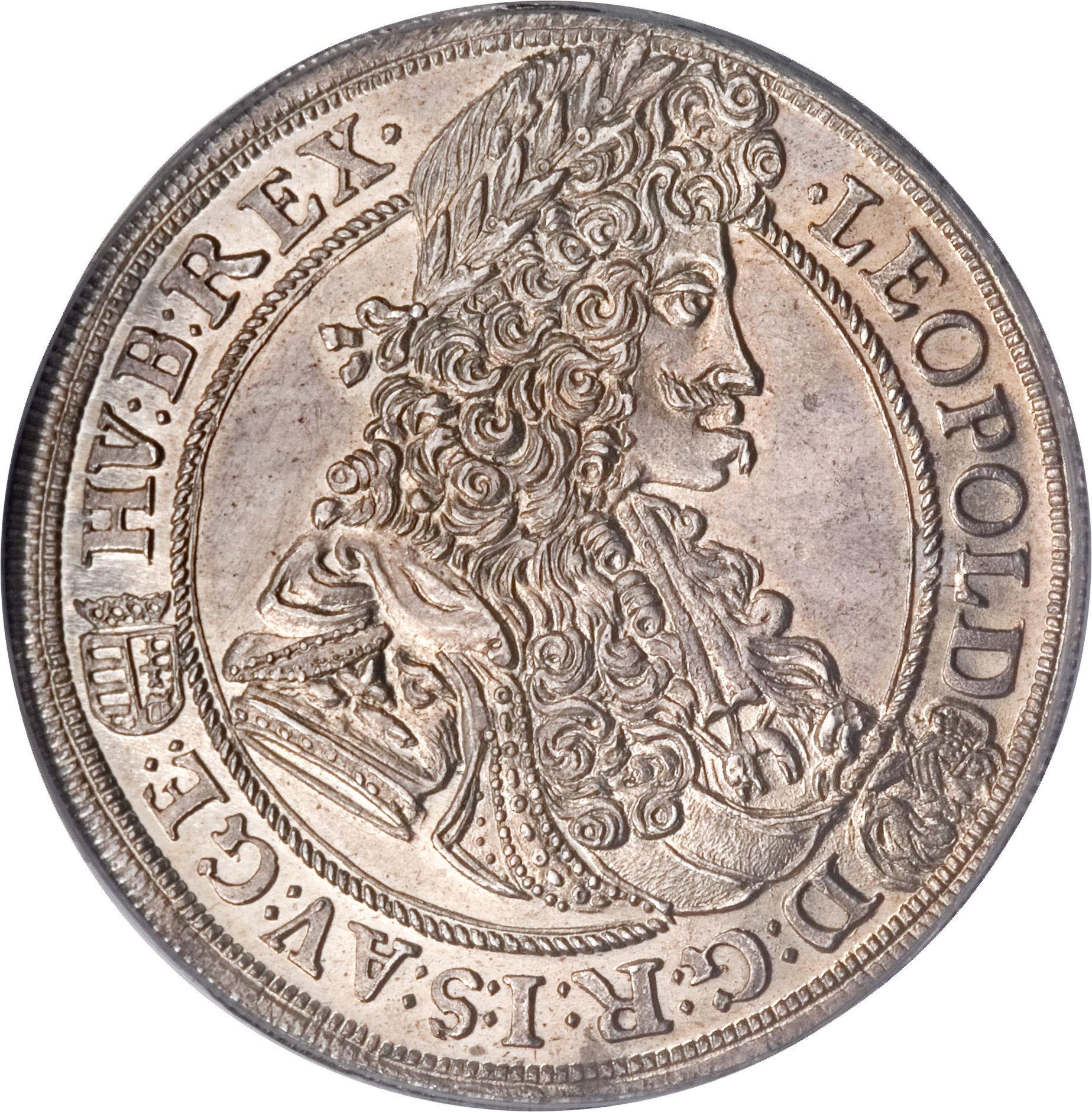 2ef0c3891 1/2 Thaler - Leopold I (1690-1699) Hungary KM# 220 - CoinsBook