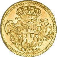 reverse of 1/2 Escudo - Jose I (1751 - 1777) coin with KM# 244 from Portugal.