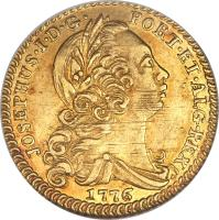 obverse of 1 Escudo - José I (1751 - 1777) coin with KM# 245 from Portugal.