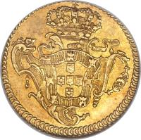 reverse of 1 Escudo - José I (1751 - 1777) coin with KM# 245 from Portugal.