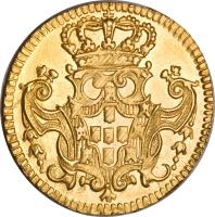 reverse of 1 Escudo - Joao V (1722 - 1842) coin with KM# 219 from Portugal.