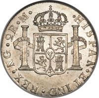 reverse of 2 Reales - Carlos IV (1790 - 1807) coin with KM# 51 from Guatemala.