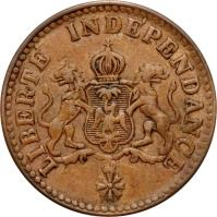 obverse of 1 Centime - Faustin I (1850) coin with KM# 34 from Haiti.