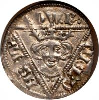 obverse of 1 Penny - Edward I (1279 - 1302) coin with SP# 6254 from Ireland.