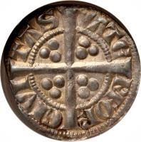 reverse of 1 Penny - Edward I (1279 - 1302) coin with SP# 6254 from Ireland.