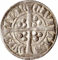 reverse of 1 Penny - Edward I (1279 - 1302) coin with SP# 6246 from Ireland.