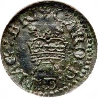 obverse of 1 Farthing - Charles I - Richmond Issue (1625 - 1644) coin with SP# 6524 from Ireland. Inscription: CARO D G MAG BRI