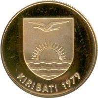 obverse of 150 Dollars - Indendence (1979) coin with KM# 9 from Kiribati. Inscription: KIRIBATI 1979
