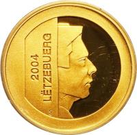 obverse of 10 Euro - Cultural History of Luxembourg (2004) coin with KM# 97 from Luxembourg. Inscription: LËTZEBUERG 2004