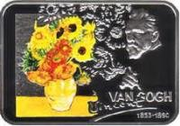 reverse of 1 Dollar - Elizabeth II - Vincent van Gogh (2007) coin with KM# 176 from Niue. Inscription: VAN GOGH Vincent 1853-1890