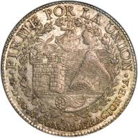 reverse of 8 Reales - South Peru (1837 - 1839) coin with KM# 170 from Peru.