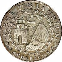 reverse of 4 Reales - South Peru (1838) coin with KM# 172 from Peru.