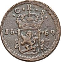 obverse of 1 Öre Silfwermynt - Carl XI (1669 - 1673) coin with KM# 264 from Sweden.
