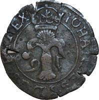 obverse of 2 Öre - Johan III (1591 - 1592) coin with SM# 68 from Sweden. Inscription: Johannes 3 D G SVEC REX