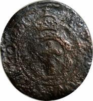 obverse of 2 Öre - Johan III (1573 - 1574) coin with SM# 65 from Sweden. Inscription: MONETA NOVA STOKHOLM Z R