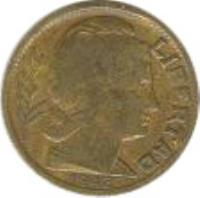 obverse of 5 Centavos (1942 - 1950) coin with KM# 40 from Argentina. Inscription: LIBERTAD 1944