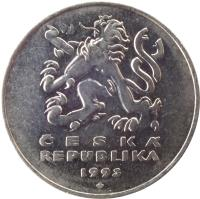 obverse of 5 Korun (1993 - 2017) coin with KM# 8 from Czech Republic. Inscription: ČESKÁ REPUBLIKA 1993