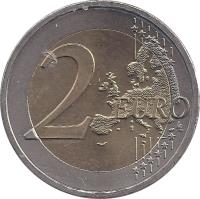 reverse of 2 Euro - 50th anniversary of the Treaty of Rome (2007) coin with KM# 3150 from Austria. Inscription: 2 EURO LL