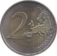 reverse of 2 Euro - 10th anniversary of Economic and Monetary Union (2009) coin with KM# 3175 from Austria. Inscription: 2 EURO LL