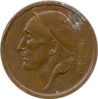 obverse of 20 Centimes - Baudouin I - French text (1953 - 1963) coin with KM# 146 from Belgium. Inscription: RAU