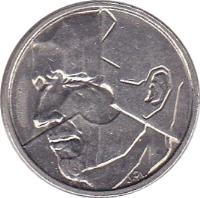 obverse of 50 Francs - Baudouin I - Dutch text (1987 - 1993) coin with KM# 169 from Belgium. Inscription: JPL