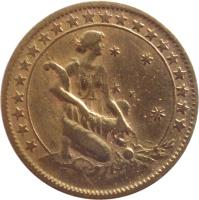 reverse of 500 Réis (1924 - 1930) coin with KM# 524 from Brazil.