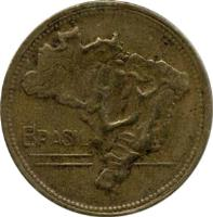 obverse of 2 Cruzeiros (1942 - 1956) coin with KM# 559 from Brazil. Inscription: BRASIL