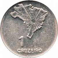 reverse of 1 Cruzeiro - 150th Anniversary of Independence (1972) coin with KM# 582 from Brazil. Inscription: 1 CRUZEIRO