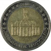 obverse of 2 Euro - Federal States: Saarland (2009) coin with KM# 276 from Germany. Inscription: SAARLAND J FB BUNDESREPUBLIK DEUTSCHLAND 2009