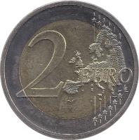 reverse of 2 Euro - 10 Years of EMU (2009) coin with KM# 277 from Germany. Inscription: 2 EURO LL